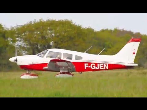 piper pa 28 181 takeoff from la baule escoublac aerodrome youtube. Black Bedroom Furniture Sets. Home Design Ideas