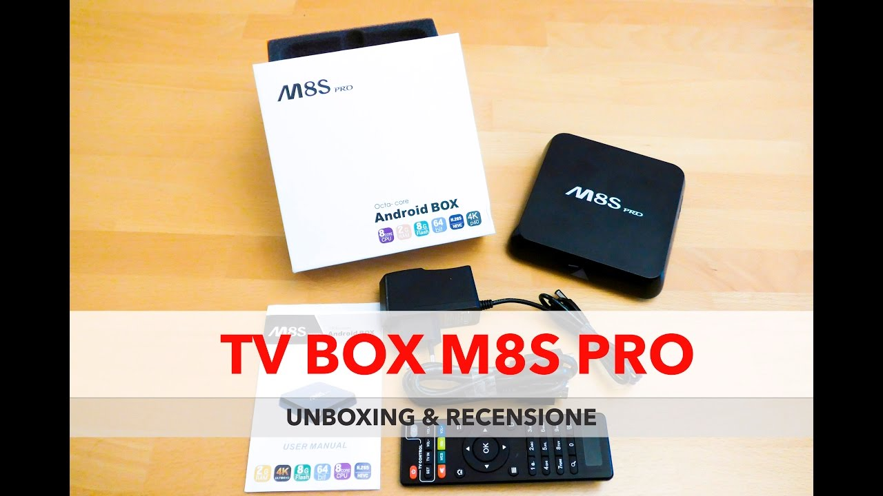Android Tv Box M8s Pro Unboxing E Recensione Youtube 71 H96 Plus Ram 3gb Rom 32gb Kodi Loaded And Review