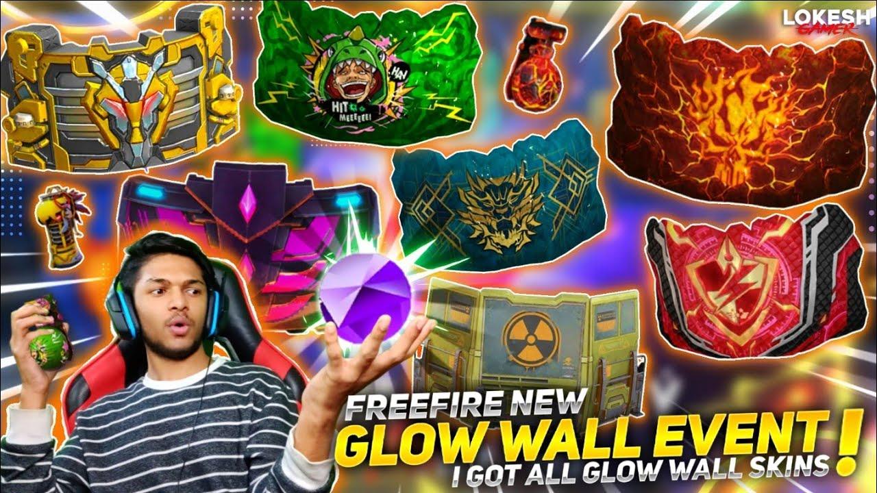 New Gloo Wall Event I Got Volcanic Fury Gloo Wall Skin & Dragon Seal Skin & Spinkey SkinFree Fire