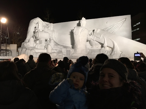 Final Fantasy VII Sculpted Ice Show @ Sapporo Snow Festival 2017