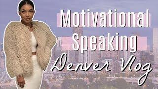 DENVER VLOG - SPEAKING AT MY FIRST CONFERENCE | Brittany Daniel