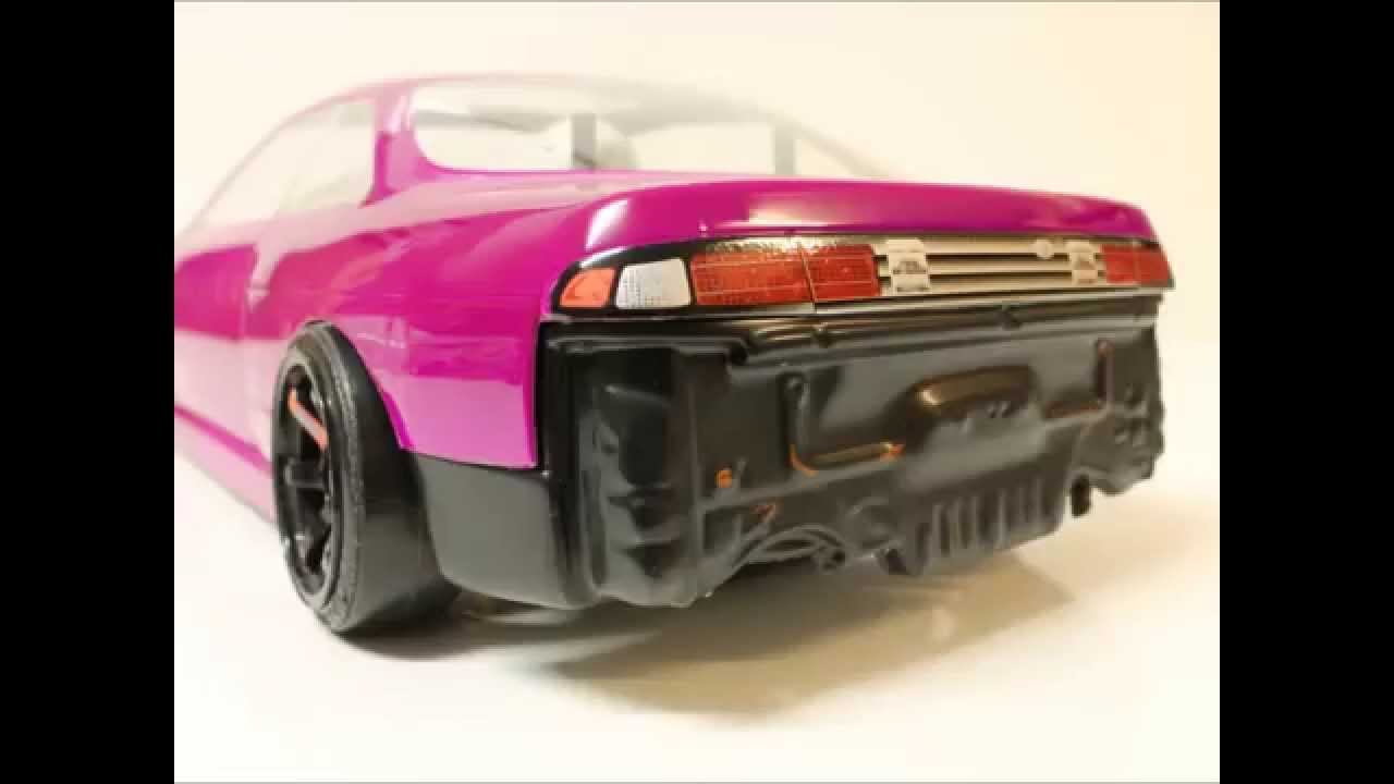 EAC RC Body Build    Nissan Silvia S14 Street Drift   YouTube