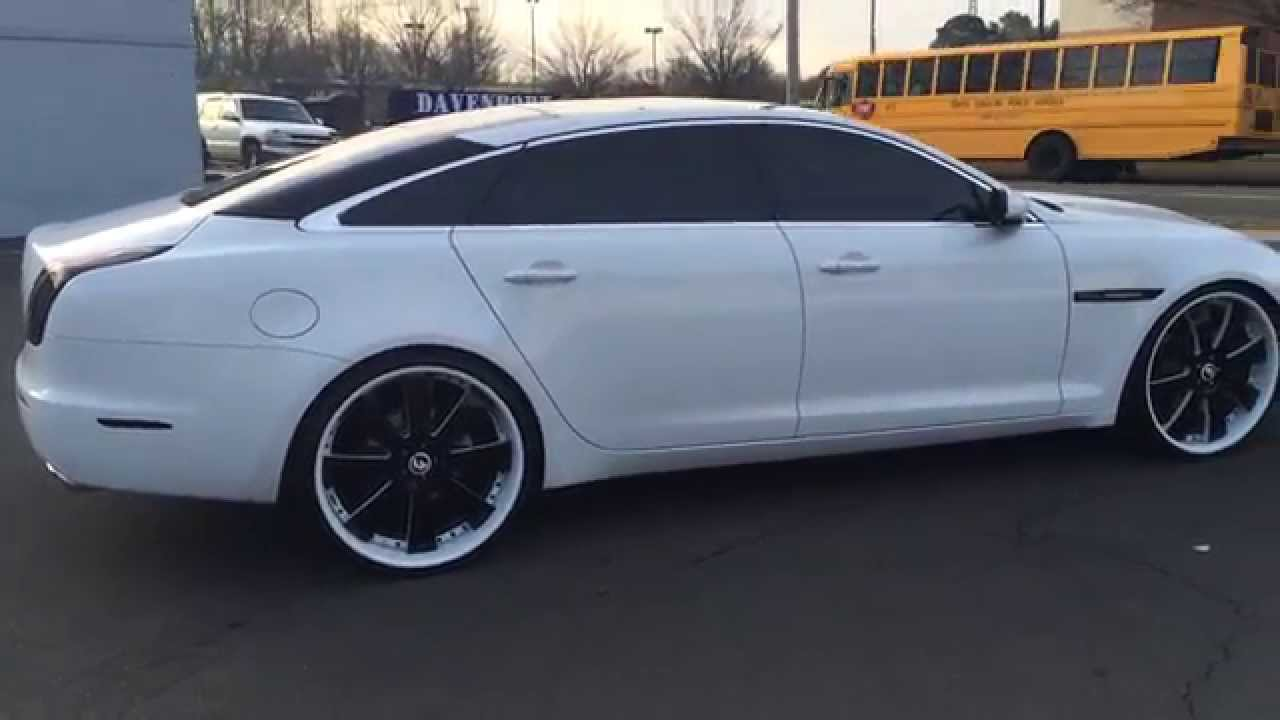 Jaguar Xjl On 24 Inch Forgiato 3pc Custom Painted Rims Smoked Out
