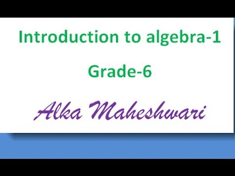 Introduction To Algebra For Class 6 Students Terms Constants And