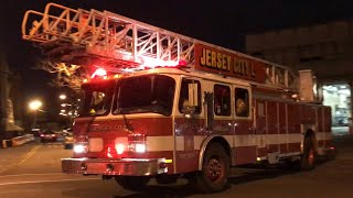 JERSEY CITY FIRE DEPARTMENT LADDER 6, USING SPARE LADDER 41, RESPONDING FROM QUARTERS ON PARK AVENUE