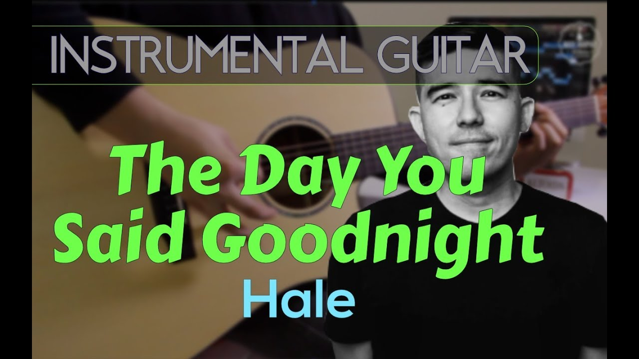 Hale The Day You Said Goodnight Instrumental Guitar Cover Youtube