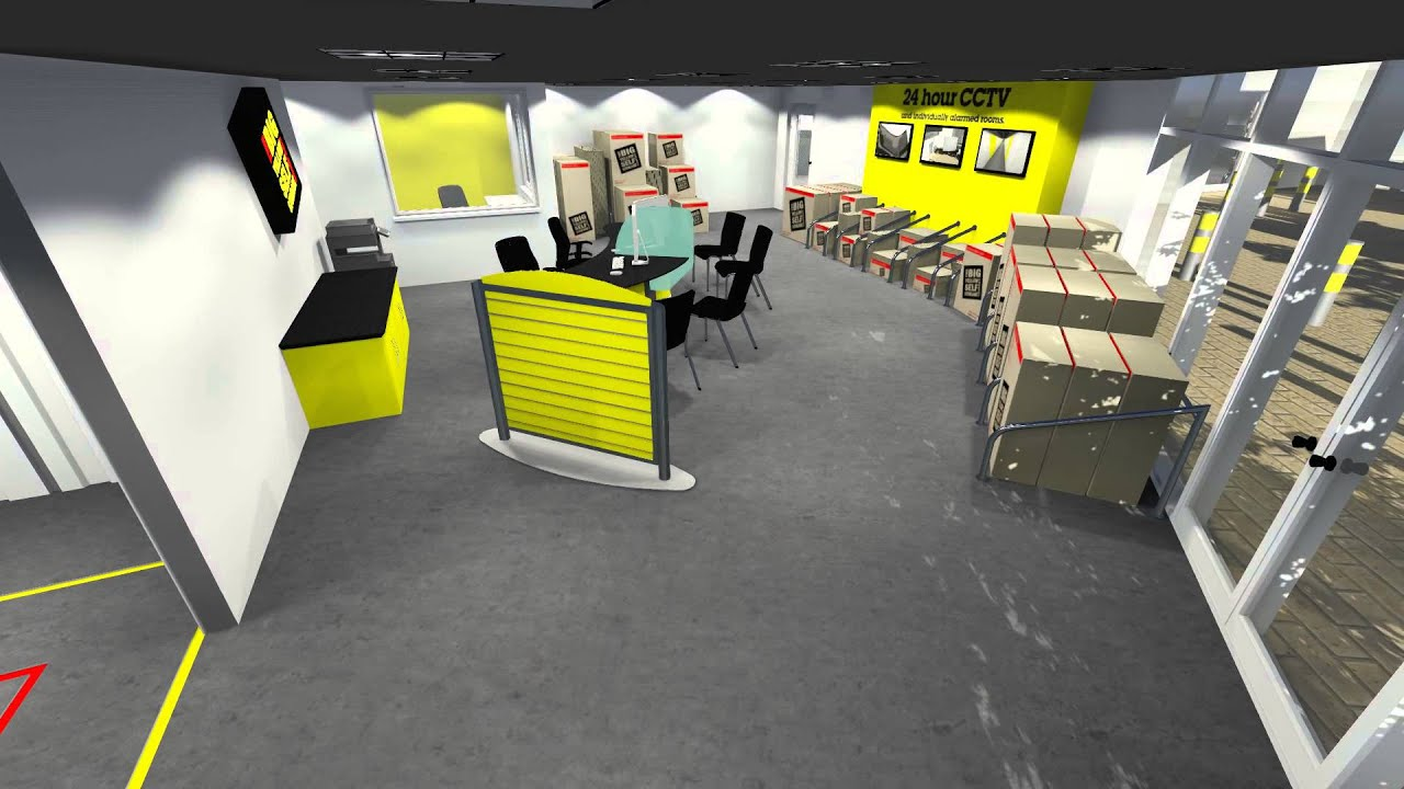 big yellow self storage at gypsy corner a virtual walk through youtube. Black Bedroom Furniture Sets. Home Design Ideas