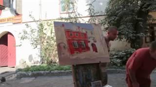 Пишу картину маслом Львов Армянский дворик, Суханова Виктория