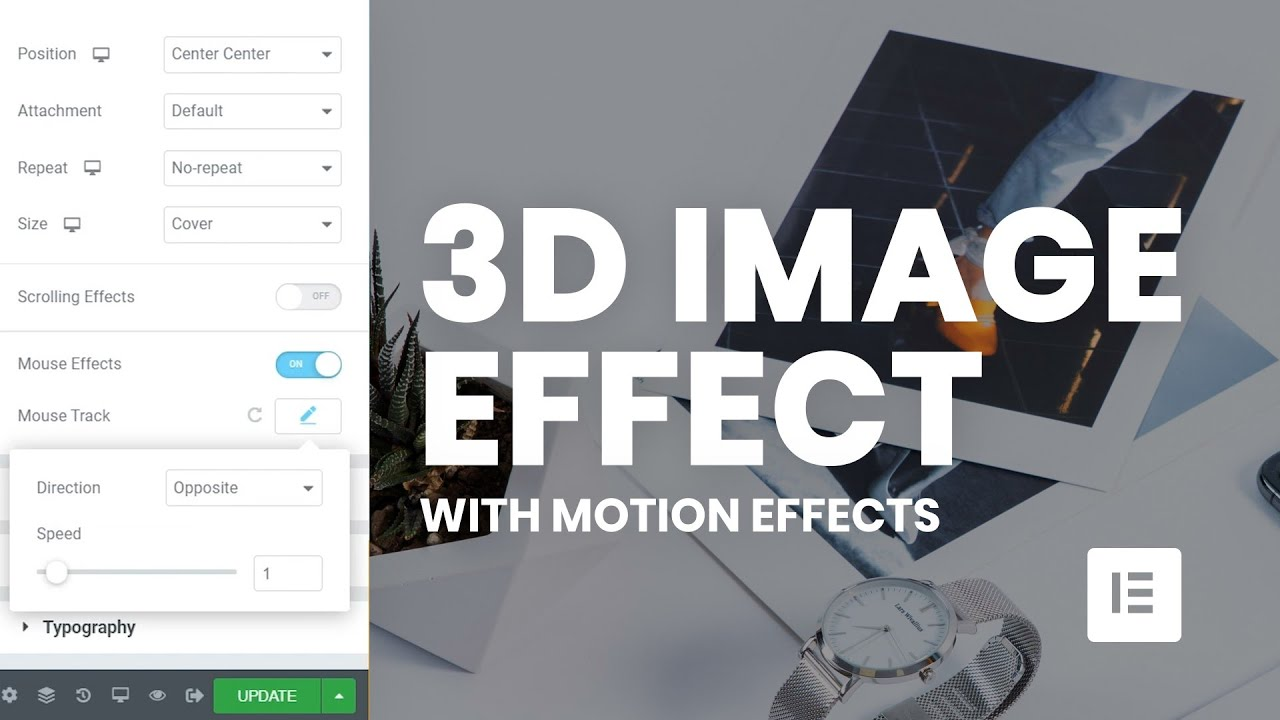 Create 3D Image Effect with Elementor Pro Motion Effects ...