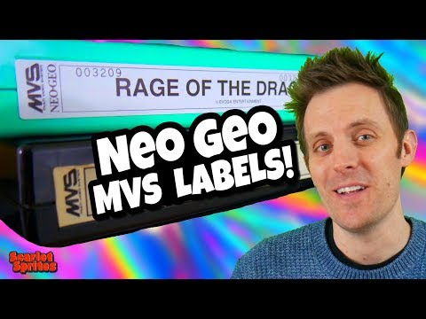 Neo Geo MVS Collecting:  What's Up With Those Labels?
