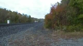 Amtrak Pennsylvanian Train 42 O4T with P42DC 24 Leading at CP RAD RADE Greensburg PA