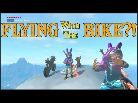 FLYING with the BIKE?! What can go Wrong? in Zelda Breath of the Wild DLC