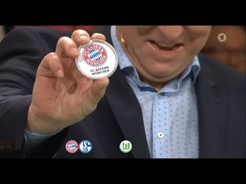 ARD Sportschau: DFB Pokal 2017/18 Auslosung des Viertelfinales (u. a. SC Paderborn vs FC Bayern)
