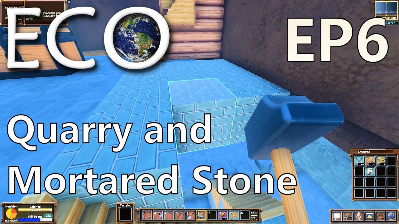 ECO | EP 6 | Quarry and Mortared Stone | Multiplayer ECO (S1)