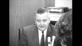 Delaware County Circuit Court judge interviewed about divorce, 1969