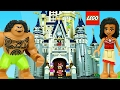 LEGO MOANA Scavenger Hunt in DISNEY PRINCESS CINDERELLA CASTLE Lego Micke Mouse House DisneyCarToys