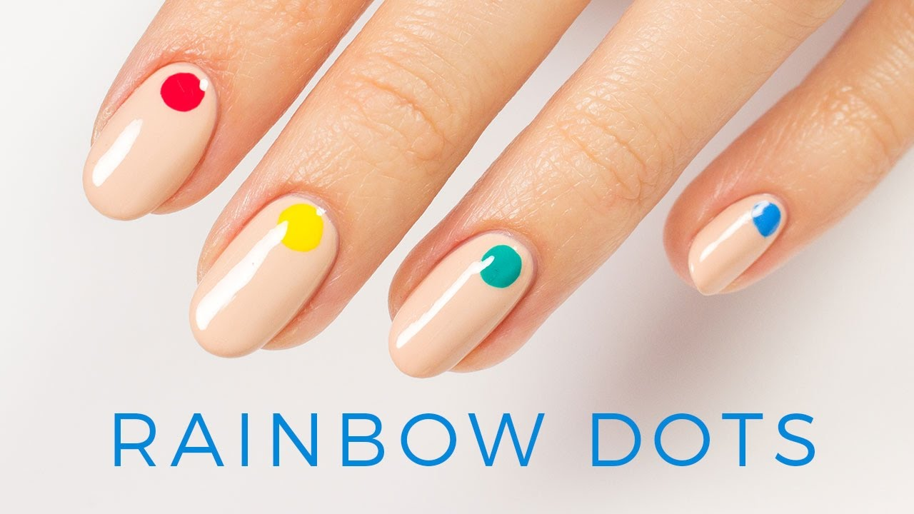 Minimal Rainbow Nail Tutorial | ipsy Nailed It - YouTube
