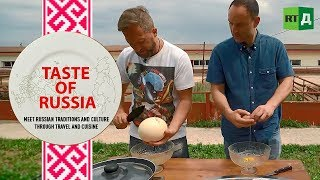 Is this a yolk? Ostrich omelettes & peculiar pastries - Taste of Russia Ep. 16