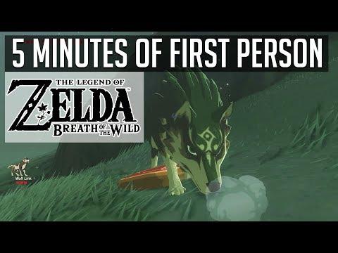 First Person Zelda Breath of the Wild Gameplay