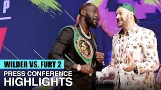 HIGHLIGHTS | DEONTAY WILDER VS TYSON FURY 2 LAUNCH PRESS CONFERENCE