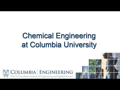 Chemical Engineering at Columbia University