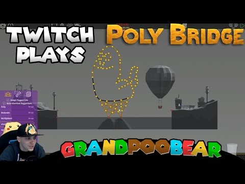 Twitch Plays Poly Bridge!