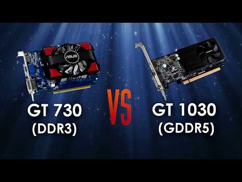 GT 730 4gb DDR3 vs GT 1030 2gb GDDR5 in 5 Games