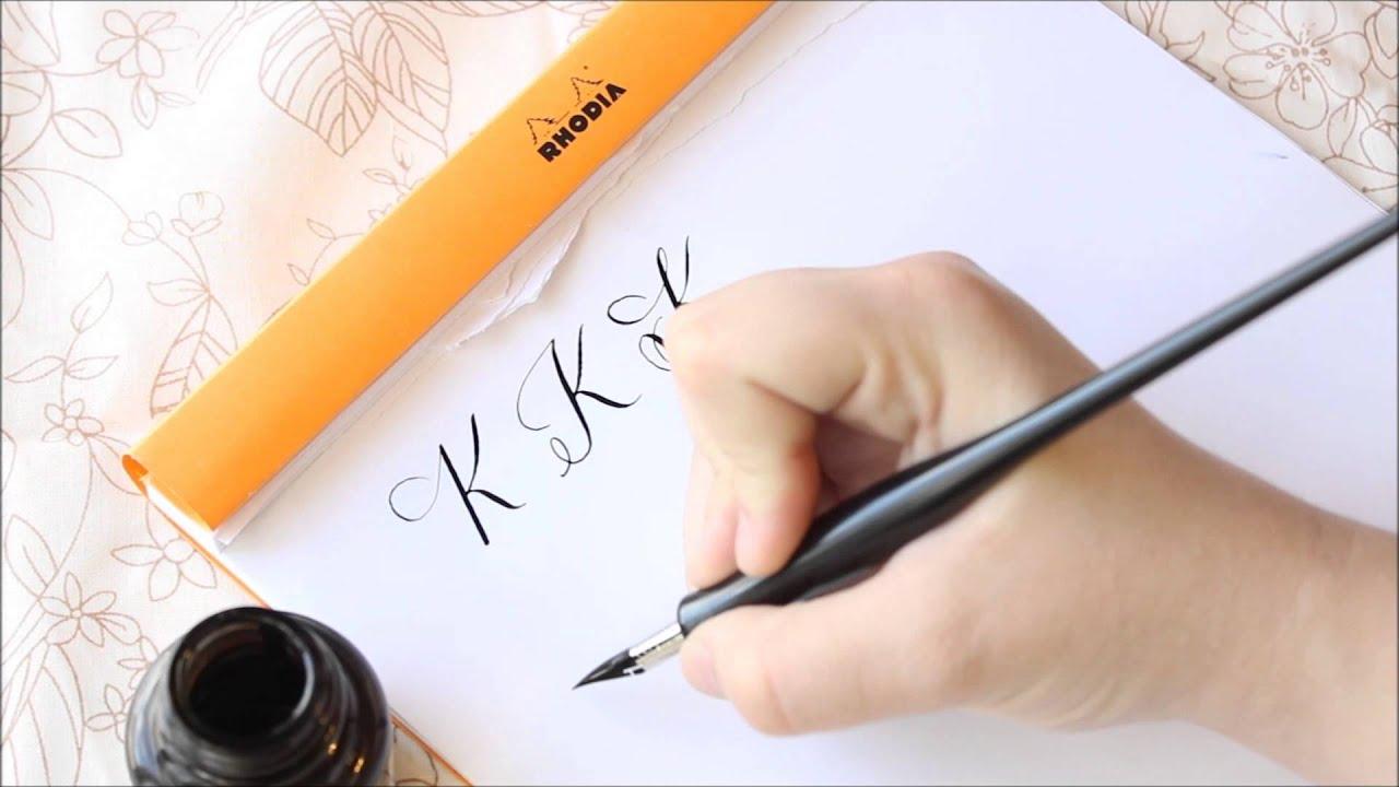 The Letter K Basic Calligraphy Tutorial