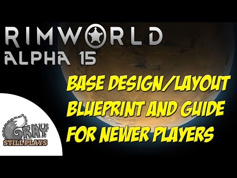 Rimworld Alpha 15 | Base Design Tutorial, Building Defense Layout Tips + Tour for Beginners | Guide