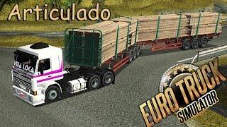 DIRIGINDO E MANOBRANDO CARRETA BITREM ARTICULADO \o/ | EURO TRUCK SIMULATOR - G27 | PT-BR |