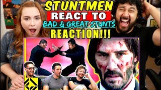 STUNTMEN React To Bad & Great HOLLYWOOD STUNTS 3 - REACTION!!!