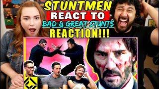 STUNTMEN React To Bad & Great HOLLYWOOD STUNTS 3 - REACTION!!!