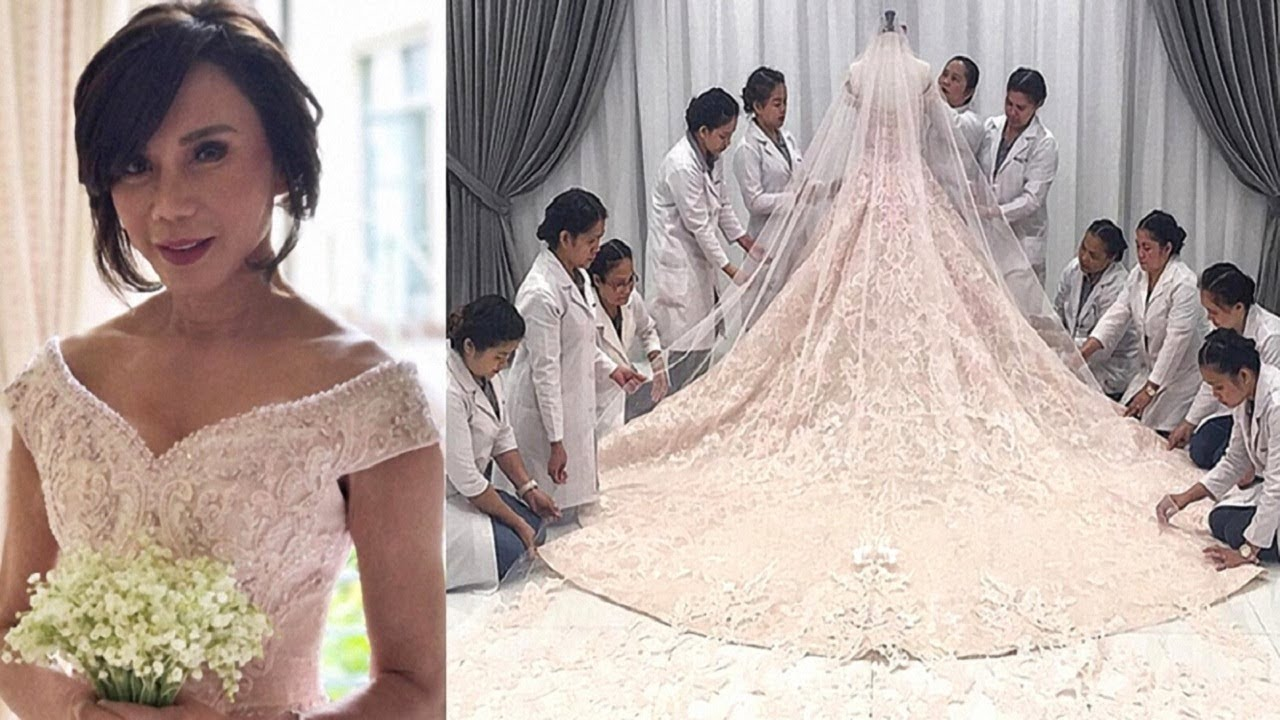 A closer look at Vicki Belo's beautiful wedding gown! Just WOW! - YouTube