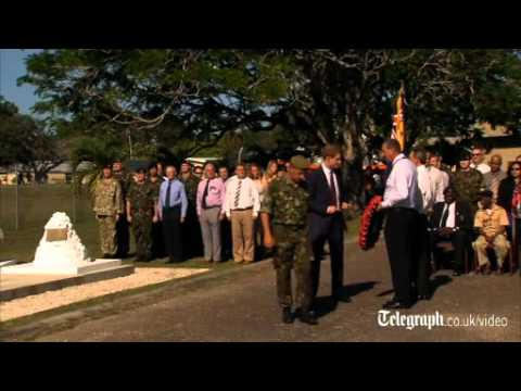 Prince Harry lays wreath and visits Mayan ruin in Belize
