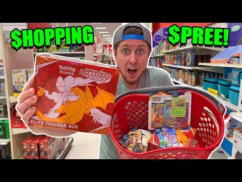 I BOUGHT ONE OF EVERYTHING From The NEW POKEMON CARD SET UNBROKEN BONDS AT TARGET! Big Opening