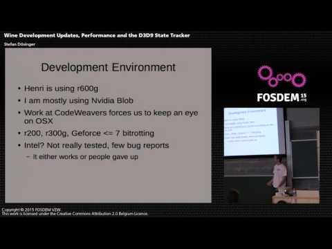 FOSDEM 2015 - Developer Room - Graphics - D3D9 Wine