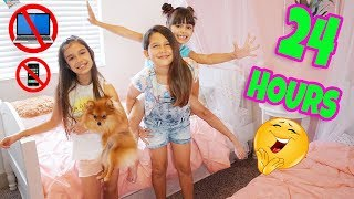 24 HOURS OVERNIGHT IN OUR BEDROOM WITH BFF CHALLENGE - Hatchimals Colleggtibles Season 3