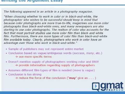 4 - GMAT Prep - Writing the AWA Argument Essay - YouTube