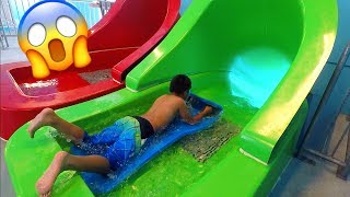 Scary Sliding Head First From 5 Stories High Tunnel Twister WaterSlide  Ndoor Waterpark