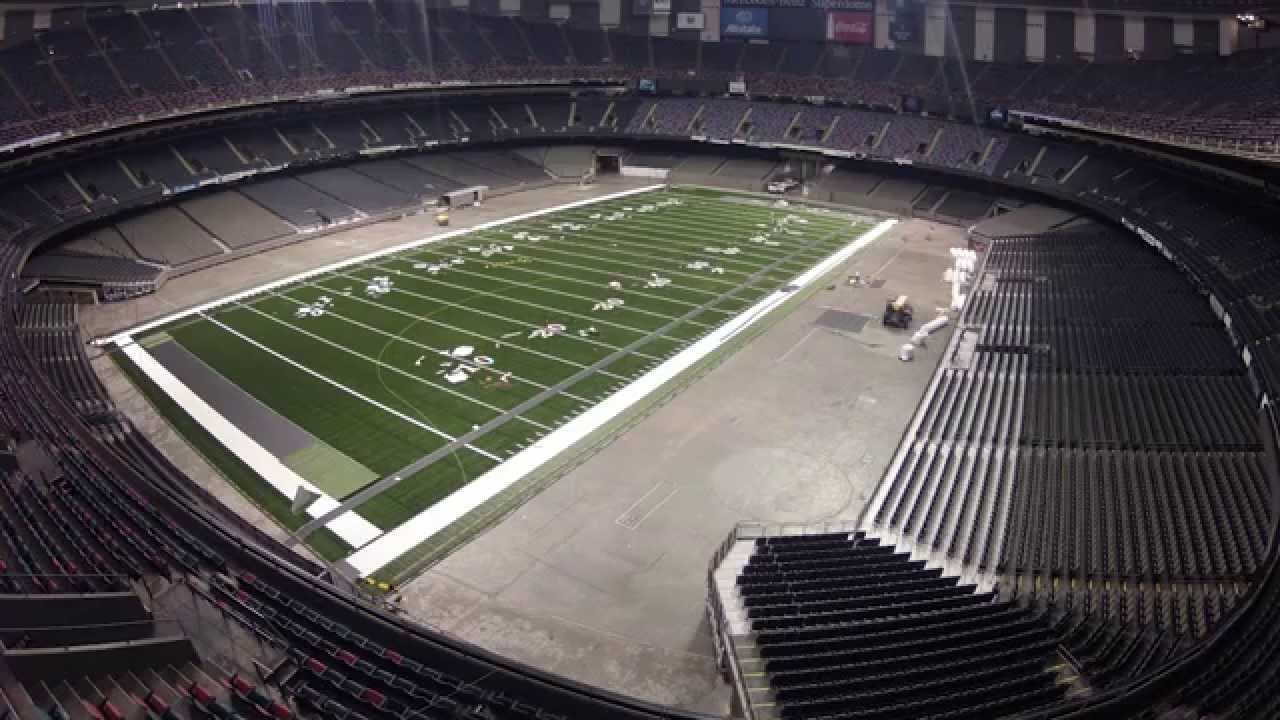 New Orleans Saints Turf Installation.   YouTube