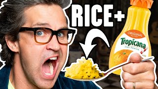 Cooking Rice In Different Liquids (Taste Test)