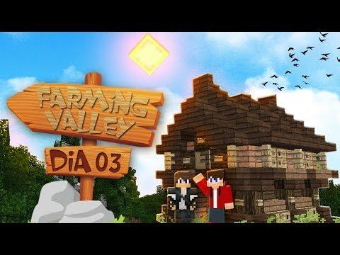 A PRIMERA CASA DA VILA - Let's Play Farming Valley Dia 3 -Dlet-