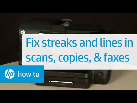 Fixing Streaks and Lines in Scans, Copies, and Faxes | HP Officejet | HP