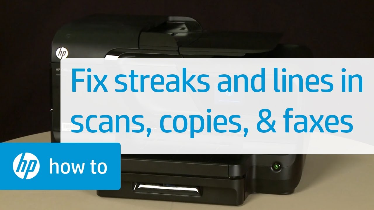 Fixing Streaks And Lines In Scans Copies And Faxes Hp