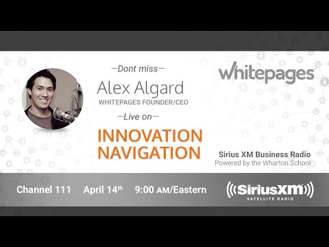 Alex Algard, Whitepages CEO and Founder, on SiriusXM Business Radio