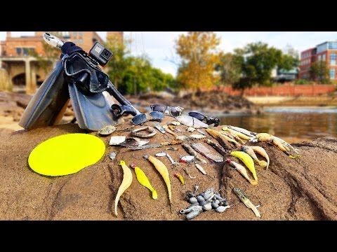 Thumbnail: Searching for River Treasure! - Knife, $40 Swimbait, 4 Sunglasses, Fishing Tackle and MORE!