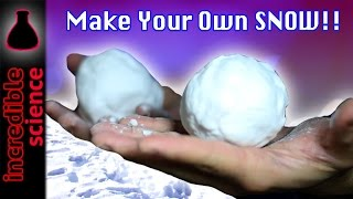 DIY EASY TO MAKE SNOW AT HOME!!!
