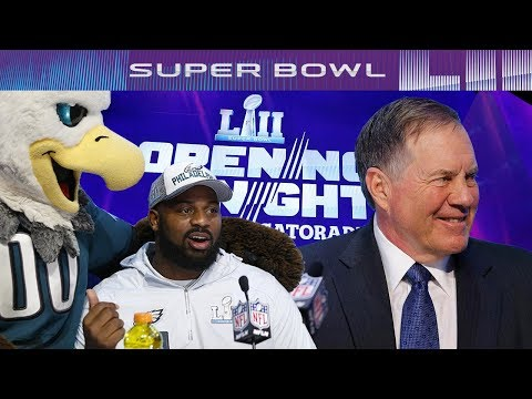 Funniest and Weirdest Moments of Super Bowl LII Media Night | NFL
