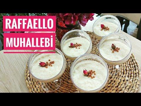 Şık Sunumuyla Rafaello'luPuding Tarifi   Sütlü Tatlı Tarifi
