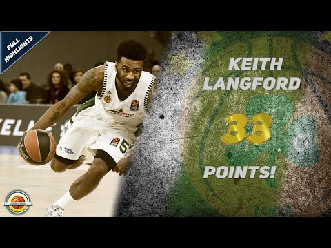 Keith Langford 33 Points vs KIROLBET Baskonia Vitoria-Gasteiz ● Full Highlights ● HD